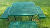 rectangular metal framed outdoor picnic table Gaithersburg