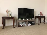 2 small side tables 1 TV floor stand Reston, 20194