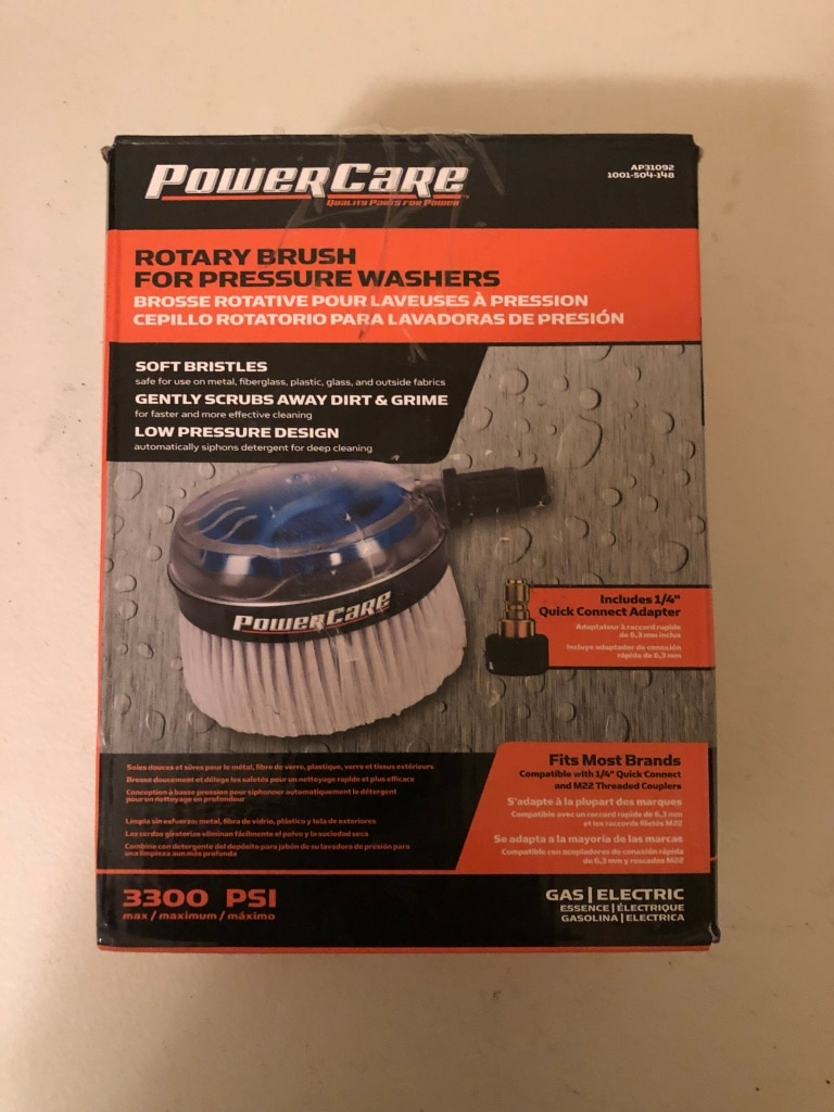 Power Care Rotary Brush For Pressure Washers 3300 PSI