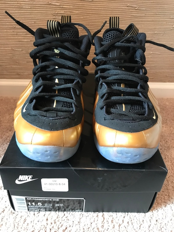 half off 5d4b9 6b987 2015 Nike air foamposite one pro metallic gold and black size 11.5. NO  TRADES