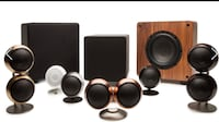 Orb audio speakers $75 each in black and copper San Francisco, 94107