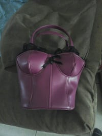 purple corset shaped leather tote bag Spring Hill, 34606