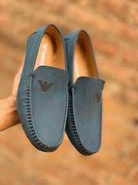 pair of black leather loafers Delhi, 110059