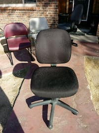 Black office chair with casters. El Paso, 79936