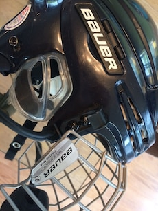 black Bauer ice hockey helmet