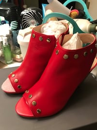 Vince Camuto peep toe red boots brand new size 7 San Jose, 95136
