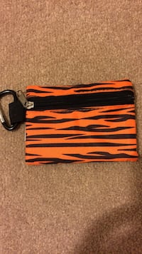 Orange and black zebra print coin purse Calgary, T3K 0G4