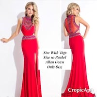 New With Tags Size 10 Rachel Allan Formal Gown $155