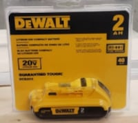DeWalt DCB203 20V Max Lithium ION compact battery pack with fuel gauge.