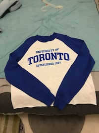 Blue and white crew-neck long-sleeved shirt Pickering