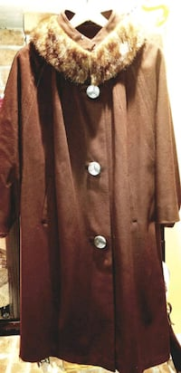 ARNOLD CONSTABLE FIFTH AVENUE WOMENS BROWN COAT L Lehigh County
