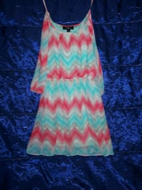 women's blue and pink chevron sleeveless dress Lafayette, 70506