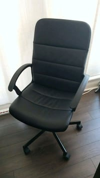 black leather office rolling armchair Toronto, M3H 1V1