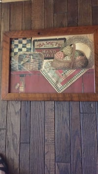 "16.5""x22.5"" country farm picture ""hand made woven baskets "" . Pick up at residents.#485 Cartersville, 30121"