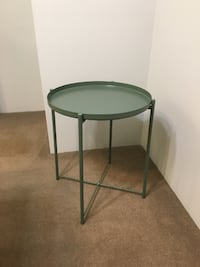 Dark Green Tray Table Vancouver