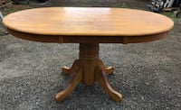 Oval  Wood Pedestal Table  Barrington, 02806