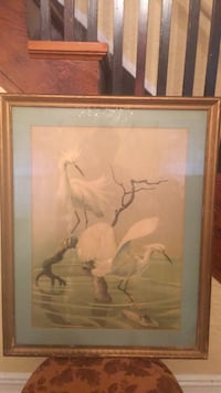 Brown wooden framed painting  New York, 11374