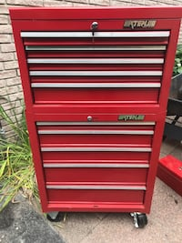 red and gray tool cabinet Belleville, K8N 3G4
