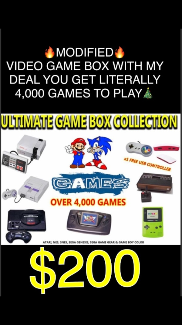 All your favorite consoles on one game box over 4,500 games