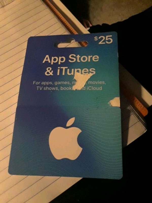 $25 gift card app store iTunes card