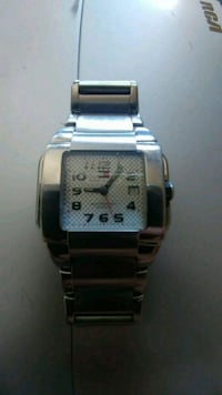 square silver analog watch with link bracelet Hayward, 94541