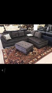••••Lexus Fabric Sectional Sofa With Storage Ottoman Sale•••• Mississauga