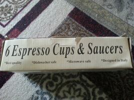 6 expresso cups and saucers
