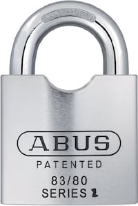 Abus 83/80-300 S2 Rekeyable Schlage Solid Steel 80mm Body 1.5-Inch Shackle Padlock Zero-Bitted TORONTO