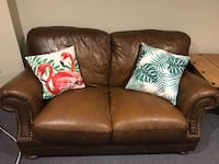 Two Brown Leather Couches Innisfil, L9S