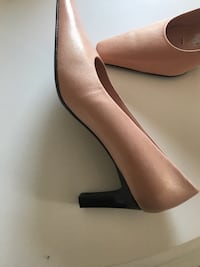 Pink leather pumps bnwot  size 7.5