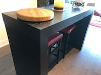 Counter height table and red leather stools Toronto, M4N 0A5