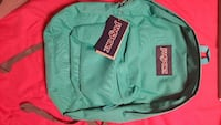teal Jansport backpack