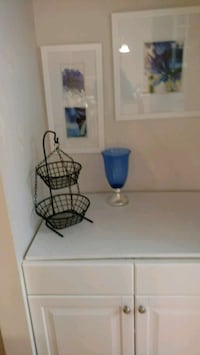 Pictures and Vase in prettu blue colors. Gaithersburg, 20878