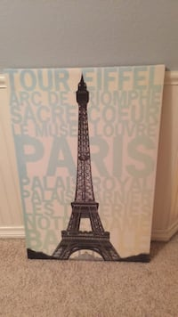 Eiffel Tower canvas in great condition  Carlsbad, 92008