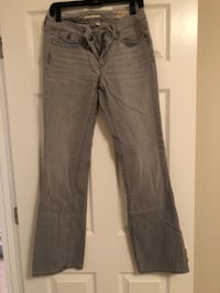gray denim straight-cut jeans Huntsville, 35758