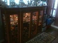 brown wooden framed glass display cabinet Winnipeg, R2H