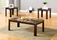 Brand New 3 Piece Faux Marble Coffee Table Set  Silver Spring, 20902