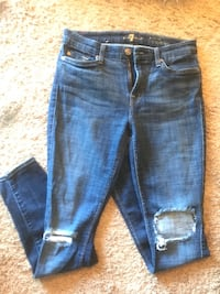 Blue-washed denim jeans all for mankind  Ridgeland, 39157