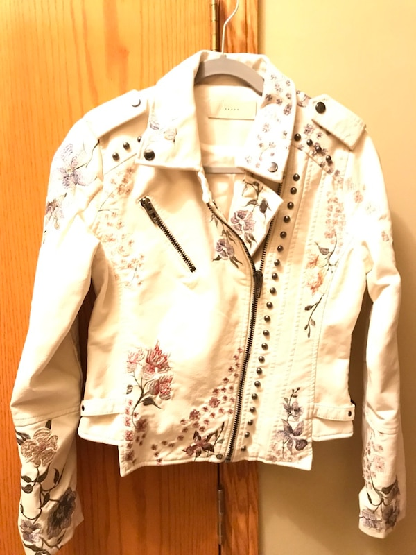 Nnew- Leather Embroidered & Stud beaded jacket.   New 0d5110b0-7c87-4f16-bae8-13292984f9bc