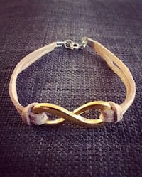 Gold and suede infinity bracelet Toronto, M6H