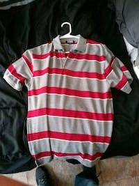 white and red striped polo shirt San Elizario, 79849