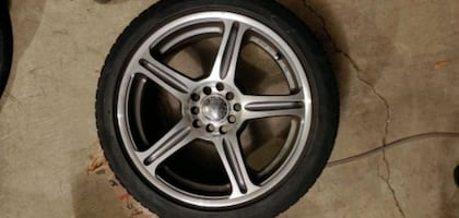 """17"""" wheels with studless snow/ice tires"""