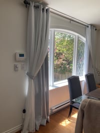 Lace and drapes for 2 windows