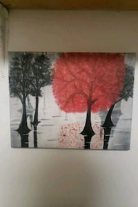 """""""Red Tree"""" acrylic painting"""