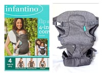 Infantino Flip Baby Advanced 4-in-1 Convertible Carrier, 8-32lbs San Pablo