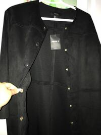 Black button-up jacket forever 21 size S