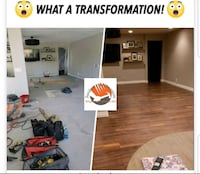 Floor, baseboard, & wall accent, installation Las Vegas