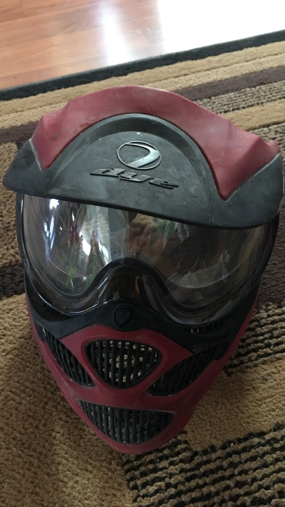 red and black Dye paintball mask