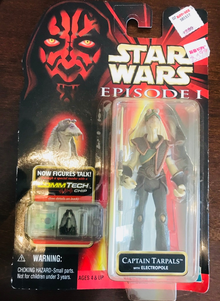 CAPTAIN TARPALS with ELECTROPOLE STAR WARS EPISODE 1 TPM