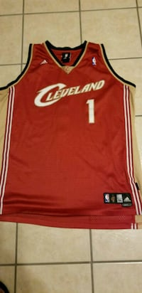 red and white Cleveland Cavaliers Lebron James jersey El Paso, 79936